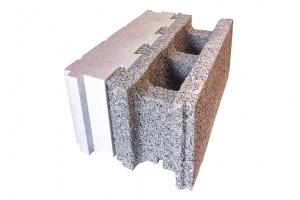 Bloc Isolabloc: composite bois/ciment et polystyrène expansé[©Isolabloc]