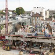 Le pont dalle de la constituera le toit de la future gare d'Arcueil – Cachan de la ligne 15 Sud. [©SGP]