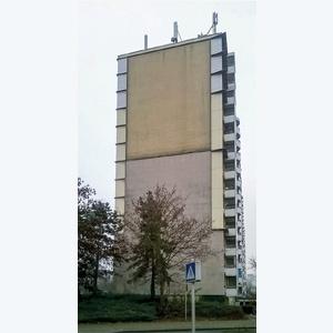 Vue de la façade avant la rénovation. [©Arkédia Olry]