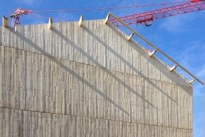 Mur pignon matricé d'une maison individuelle, réalisé selon le procédé GBE.[©LafargeHolcim]