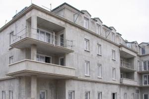 Ensemble immobilier réalisé à Soisy-sous-Montmorency (95), en Bis Thermovoil d'Unibéton (HeidelbergCement).[©Evelyne Derlon]