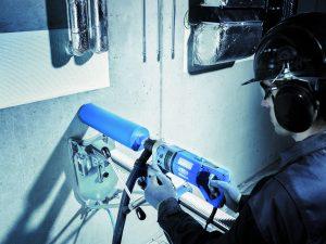 Le nouveau système de carottage à sec de Tyrolit est combiné à des couronnes à sec développées avec la technologie TGD.[©Tyrolit]