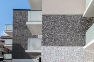 Bis matricé Defi.Thermicat de Vicat, dans le cadre d'un programme immobilier.[©Vicat]