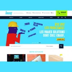 Nouvelle page d'accueil du site knauf.fr. [©Knauf]