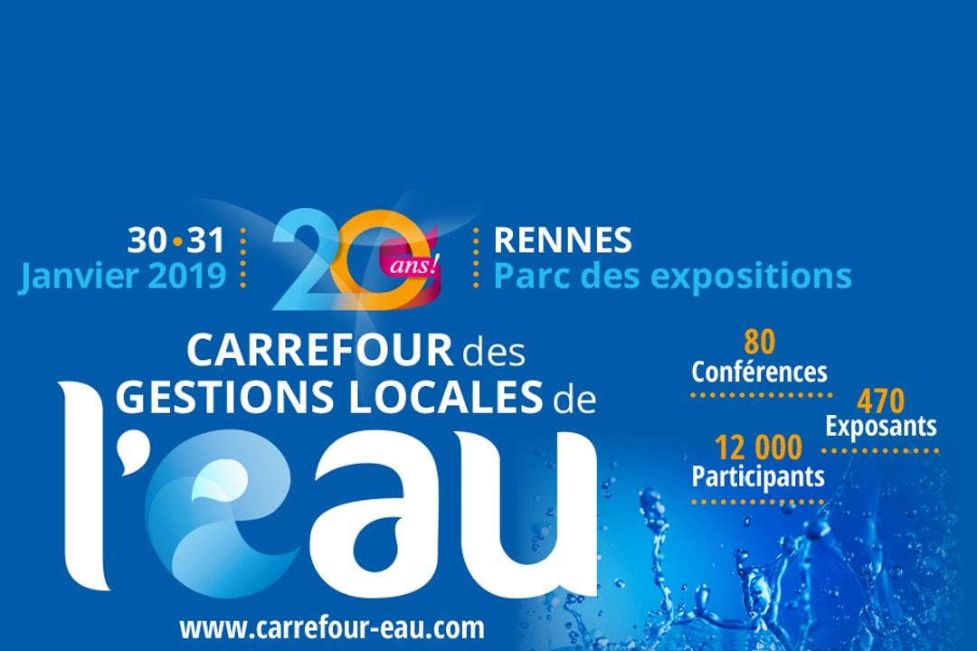 Affiche du Carrefour de l'eau où sera présent une village béton.