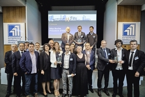 Les 3 lauréats nationaux du Trophée des Clefs d'or de l'entreprise générale 2017.