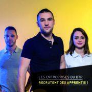 Les entreprises du BTP recherchent plus de 4 000 jeunes en contrat d'apprentissage en France.