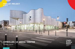 La médiathèque de Vitrolles, en France, fait partie des 61 finalistes du Cemex Building Award 2017. [©Cemex]