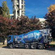 Vicat a mis en service le camion Oxygène, première toupie sans rejets polluants et… silencieuse. [©Vicat]