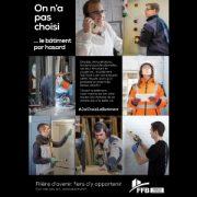 La nouvelle campagne #JaiChoisiLeBatiment met en lumière des portraits de professionnels de la filière bâtiment. [©FFB]