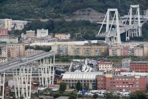 Le viaduc du Polcevera, à Gênes, s'est effondré le 14 août 2018. [©DR]