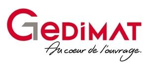 """Nouveau logo et nouvelle signature : """"Gedimat, au cœur de l'ouvrage"""". [©Gedimat]"""