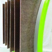 Les panneaux Nattex Panel sont légers, recyclables et à faible impact environnemental. [©Dehondt Composites]