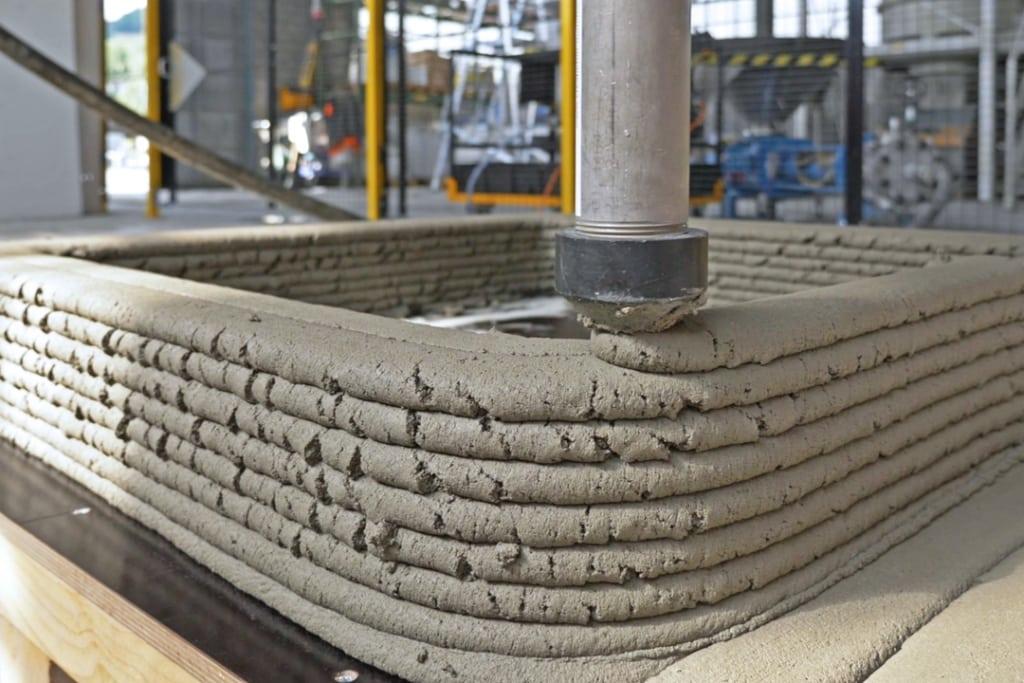 Creabéton Matériaux a réalisé un puits en impression 3D béton, en 45 min. [©Creabéton Matériaux]