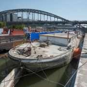 La péniche Louise-Catherine, avant son naufrage du 10 février dernier. [©ACPresse]