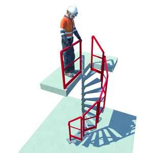 Le Bat'Access est un escalier modulable et temporaire d'accès aux trémies. [©Batiroc Protect]