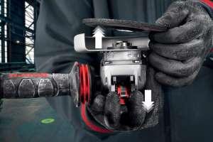 Bosch lance X-Lock, un système de changement d'accessoires pour meuleuses angulaires. [©Bosch]