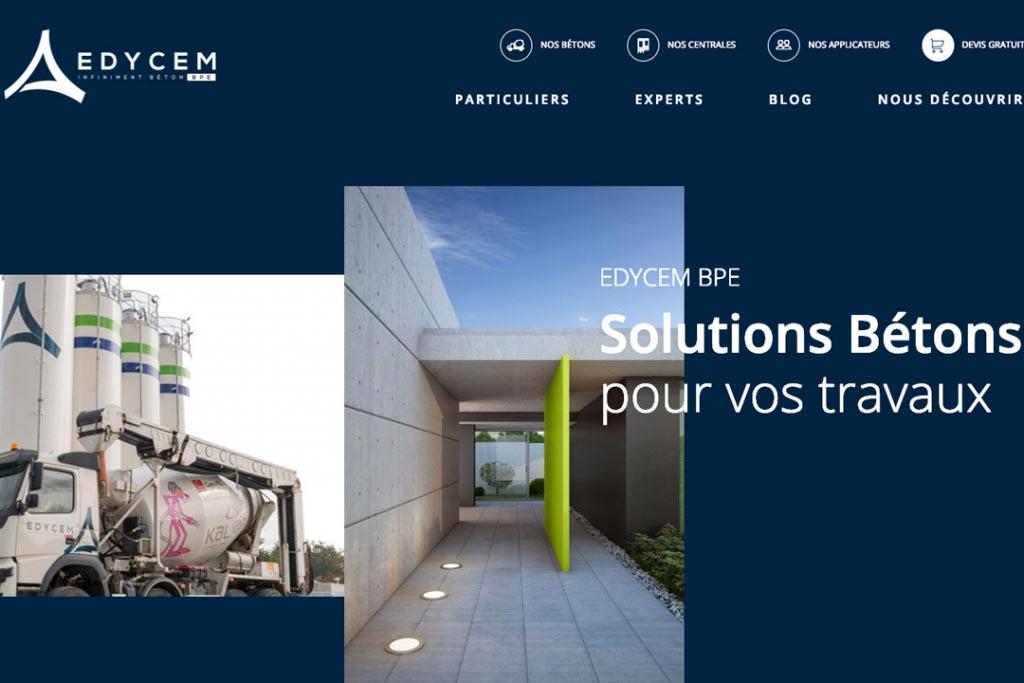 Edycem BPE dévoile son nouveau site internet. Les internautes trouveront toute l'offre de produits et de service de l'industriel. [©Edycem]