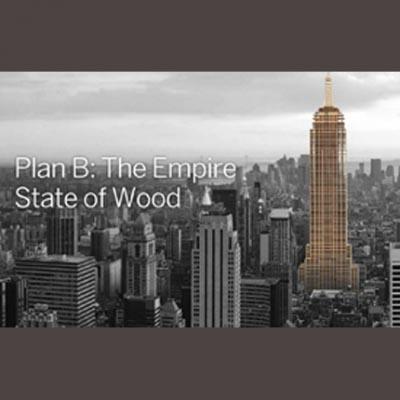 """""""Plan B"""" a été confié à l'architecte canadien Michael Green. Ce dernier a décidé de redessiner et de recalculer les grands monuments mondiaux… en bois."""