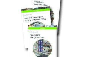 """Afnor Editions publie trois nouveaux livres """"Pratique des… fondations des grues à tours"""", """"Pratique des… prédalles suspendues selon le système LPPVE""""et """"Pratique des… grandes réservations dans les poutres""""."""
