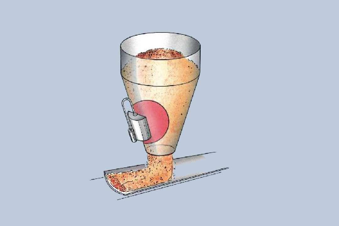 La méthode neutronique de mesure de l'humidité se fonde sur le principe de la modération des neutrons rapides par les atomes d'hydrogène. [©Berthold Technologies]