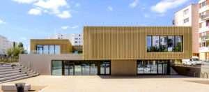 Centre social et culturel de Nemours (2016), en Seine-et-Marne, réalisé par Entreprise Boyer.