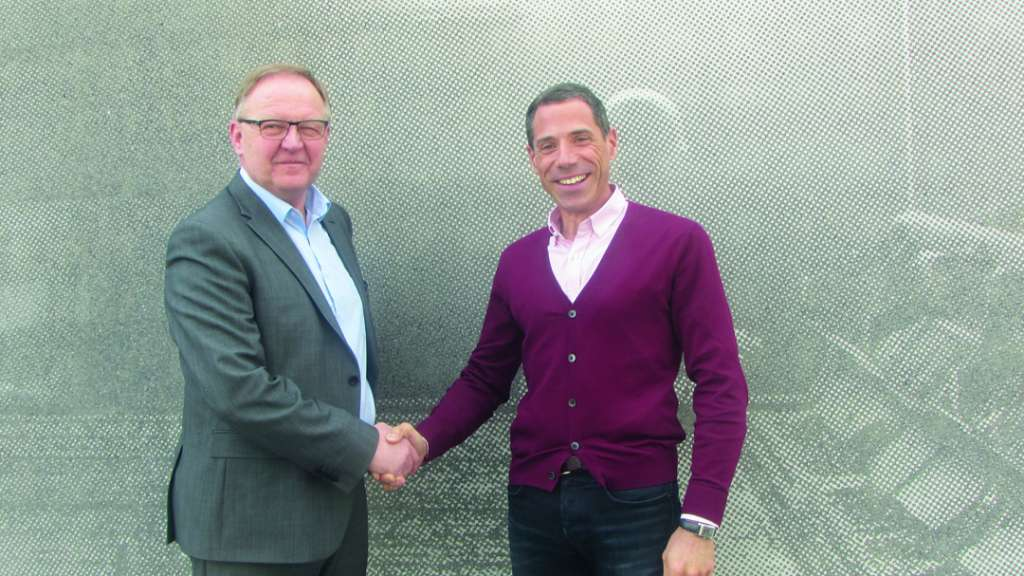 Julien Lebourgeois, à droite, fondateur Béton Direct, et Pierre Fehr, à gauche, président du groupe Fehr. [©Fehr]