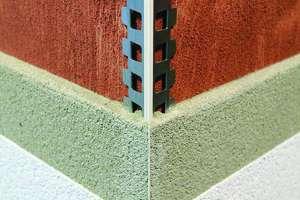 La nouvelle cornière jonc fin de Protektor est quasi-invisible et permet de poser l'enduit avec précision. [©Protektor]
