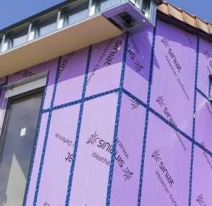 Weather Defence de Siniat autorise une plus grande libérté architecturale des constructions à ossature bois de moyenne et grande hauteur. [©Siniat]