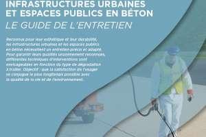 """Le Specbea publie un guide pratique : """"Infrastructures urbaines et espaces publics en béton – Le guide de l'entretien""""."""