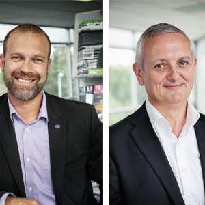 Stéphane Boidin a été nommé directeur service et Yves Thépaut, directeur développement réseau et stratégie Scania France. [©Scania France]
