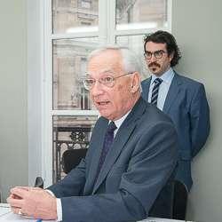 Raoul de Parisot, président du Sfic et, en arrière plan, Arnaud Périgord, responsable des affaires économiques et statistiques.