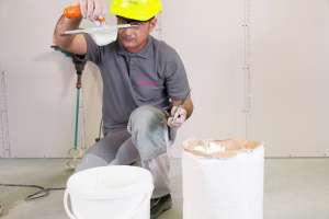 Quelque 280 à 300 g de Prégygliss sont nécessaires pour une surface de 1 m2. [©Siniat]