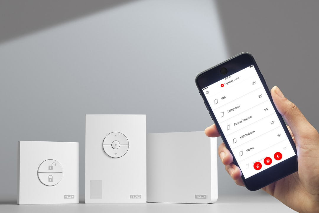 Velux et Netatmo lancent Velux Active, la première solution intelligente pour les fenêtres de toit, les volets roulants et les stores. [©Velux]