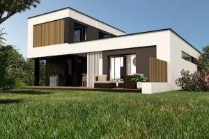 La maison expérimentale Villa E-roise est le fruit d'un travail de co-développement entre Trécobat et ses fournisseurs.