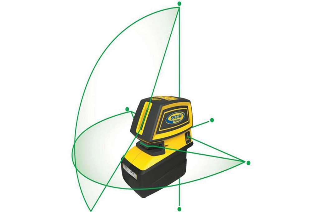 Le Spectra Precision est un laser deux-en-un, qui permet de réaliser l'ensemble des travaux intérieurs. [©Trimble]
